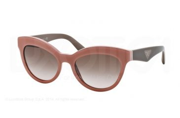 Prada TRIANGLE PR23QS Sunglasses TFS0A6-53 - Opal Pink/pink Frame, Brown Gradient Lenses