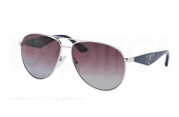 Prada TRIANGLE PR53QS Sunglasses 1BC2A0-60 - Silver Frame, Polar Violet Gradient Lenses