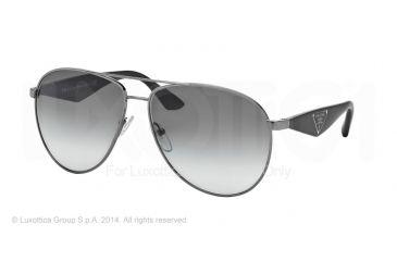 Prada TRIANGLE PR53QS Sunglasses 5AV0A7-60 - Gunmetal Frame, Gray Gradient Lenses