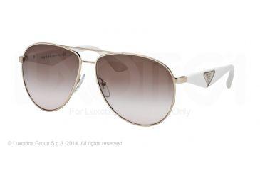 Prada TRIANGLE PR53QS Sunglasses ZVN0A6-60 - Pale Gold Frame, Brown Gradient Lenses
