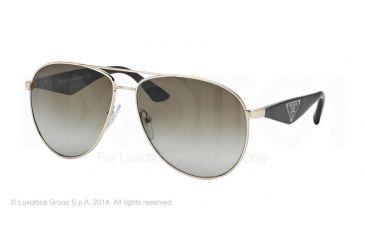 Prada TRIANGLE PR53QS Sunglasses ZVN1X1-60 - Pale Gold Frame, Brown Gradient Lenses