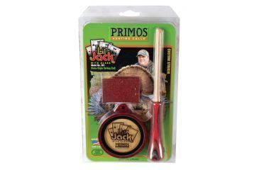 Primos Lil' Jack Friction Turkey Call Wooden Pot With High Frequency Glass Surface and Laminate Striker 261