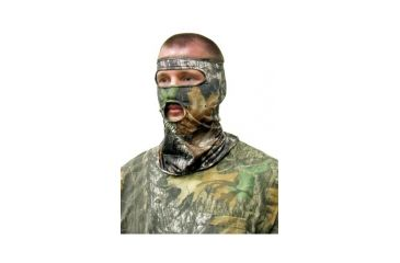 Primos Hunting Stretch-Fit Face Mask, 3/4, Mossy Oak New Break Up PS6227