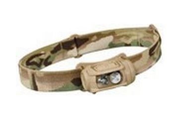 Princeton Tec Remix Pro Black Headlamp w/ IR, Multicam, Red/Green/IR/White LED Color HYB123-RGI-MC