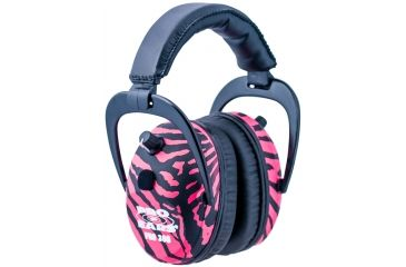 Pro Ears Pro 300 Wind Abatement Hearing Protection NRR 26dB Headset, Pink Zebra P300PZ