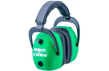 Pro Ears Pro Mag Gold Hearing Protection Headset, Gold Neon Green GSDPMNG