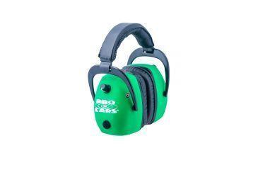 Pro-Ears Pro Slim Gold Electronic Earmuffs, Green