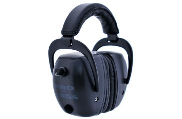 Pro Ears Pro Tac Mag Gold NRR 30 Hearing Protection Earmuffs, Black GS-PTM