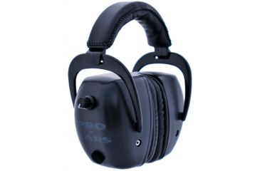 Pro Ears Pro Tac Mag Gold NRR 30 Hearing Protection Earmuffs, Black w/Lithium Batteries