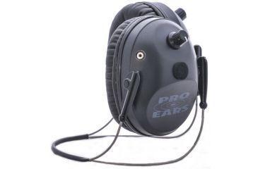 Pro-Ears Pro Tac Plus Gold Low Profile NRR 26 Earmuffs, Black, Behind Head w/ Lithium Batteries