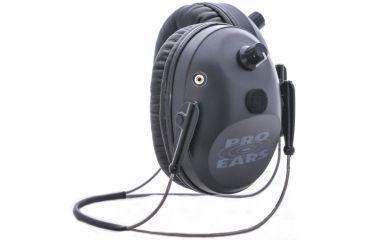 Pro Ears Pro Tac Plus Gold Low Profile NRR 26 Earmuffs, Black, Behind the Head, GS-PT300-B-BH