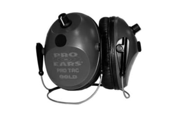Pro Ears Pro Tac Plus Gold Low Profile NRR 26 Earmuffs, Black, Behind the Head, GS-PT300-B-BH