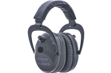 Pro-Ears Pro Tac Plus Gold Low Profile NRR 26 Earmuffs, Black GS-PT300-Black