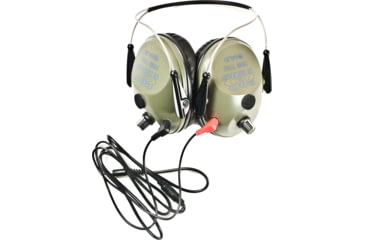 Pro Ears Pro Tac Plus Gold Low Profile NRR 26 Earmuffs, Green, Behind the Head, GS-PT300-G-BH