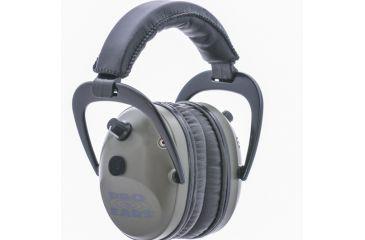 Pro-Ears Pro Tac Plus Gold Low Profile NRR 26 Earmuffs, Green GS-PT300