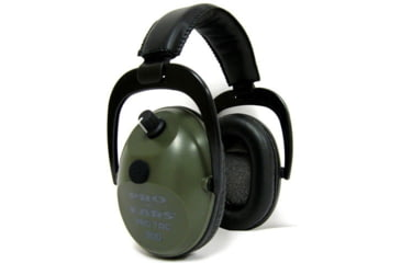 Pro Ears Pro Tac Plus Gold NRR 26 Earmuff, Green
