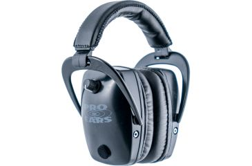 Pro Ears Pro Tac Plus Gold Slim Medium Profile NRR 28 Headset, Black