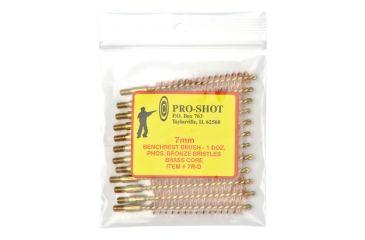 Pro-Shot Brass Core-Bronze Bristle Rifle Length Bore Brush 7mm Caliber