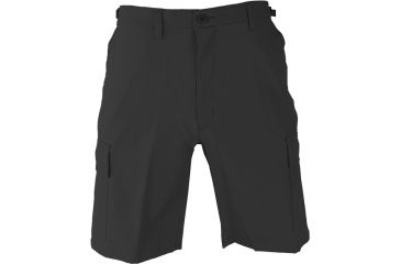 Propper BDU Poly Cotton Battle Rip Shorts w/Button Fly, Small, Black