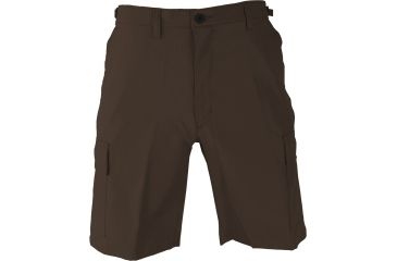 Propper BDU Poly Cotton Battle Rip Shorts w/Button Fly, Small, Brown