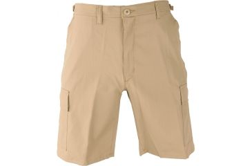 Propper BDU Poly Cotton Battle Rip Shorts w/Button Fly, Small, Khaki