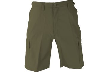 Propper BDU Poly Cotton Battle Rip Shorts w/Button Fly, Small, Olive Green