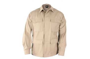 Propper Genuine Gear BDU 4-Pocket Coat, 65/35 Poly/Cotton Twill, Choose Size Size Medium - Regular, Choose Color Khaki