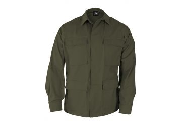 Propper Genuine Gear BDU 4-Pocket Coat, 60/40 Cotton/Poly Ripstop, Choose Size Size Extra Small-Regular, Choose Color Olive Green
