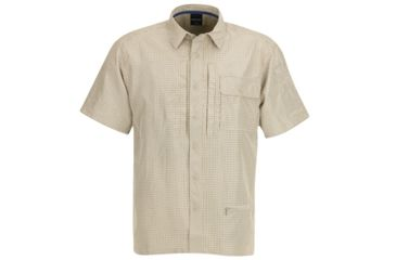 Propper Mens Independent Button Up Shirt Poly Khaki Plaid 2XL F53520V2092XL