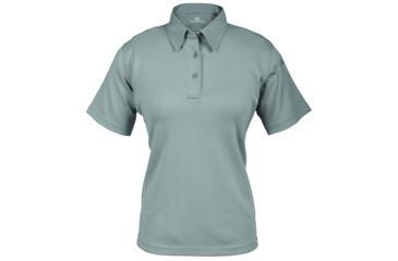 Propper Women's I.C.E. Performance Polo Short Sleeve Shirt, Grey, Small Regular F532772020S