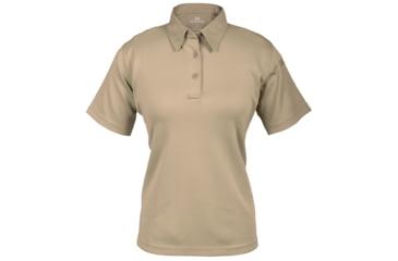 Propper Women's I.C.E. Performance Polo Short Sleeve Shirt, Silver Tan, Small Regular F532772226S