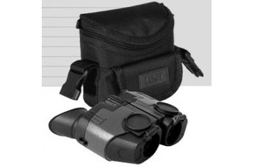 Pulsar Sideview 10x21 Compact Binoculars - shown with carrying case