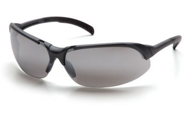 Pyramex Accurist Safety Glasses - Silver Mirror Lens, Slate Gray Frame SS4770D