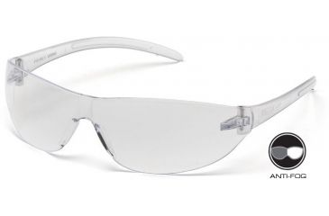 Pyramex Alair Safety Glasses - Clear Anti-Fog Lens, Clear Frame S3210ST