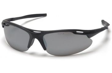 Pyramex Avante Safety Glasses - Silver Mirror Lens, Black Frame SB4570D
