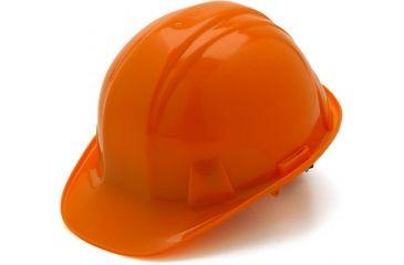 Pyramex Cap Style 4 Point Ratchet Suspension Hard Hat - Orange HP14140