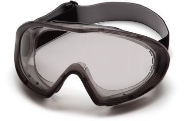 Pyramex Capstone Goggles with Gray Anti-Fog Lens, Direct/Indirect Frame GG504T - 12 Pack