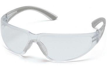 Pyramex Cortez Safety Glasses - Clear Lens, Gray Temples Frame SG3610S