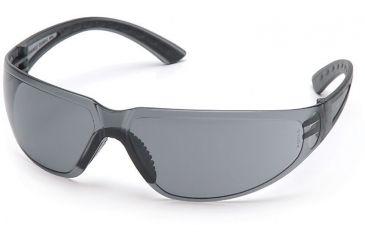 Pyramex Cortez Safety Glasses - Gray Lens, Black Temples Frame SB3620S