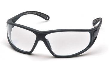Pyramex Escape Safety Glasses - Clear Lens, Black Frame SB3810D