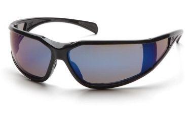 Pyramex Exeter Safety Glasses - Blue Mirror Anti-Fog Lens, Glossy Black Frame SB5175DT