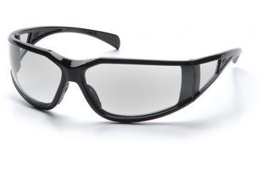 Pyramex Exeter Safety Glasses - Clear Anti-Fog Lens, Glossy Black Frame SB5110DT