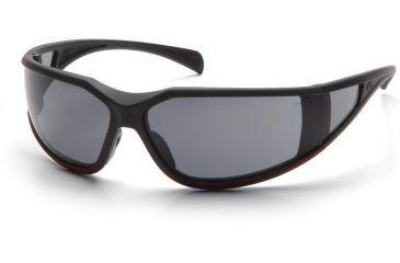 Pyramex Exeter Safety Glasses - Gray Anti-Fog Lens, Matte Black-Red Frame SBR5120DT