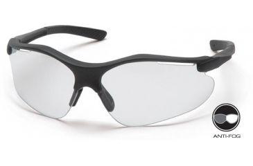 Pyramex Fortress Safety Glasses - Clear Anti-fog Lens, Black Frame SB3710DT