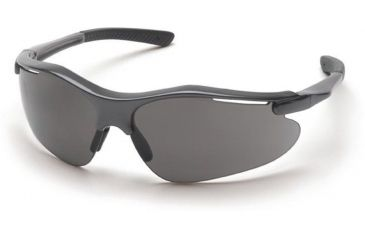 Pyramex Fortress Safety Glasses - Gray Lens, Gray Frame SG3720D
