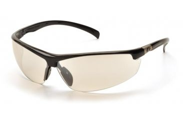 Pyramex Forum Safety Glasses - Black Frame, Indoor/Outdoor Mirror Lens