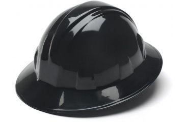 Pyramex Full Brim 4 Point Ratchet Suspension Hard Hat - Black HP24111