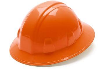 Pyramex Full Brim 4 Point Ratchet Suspension Hard Hat - Orange HP24140