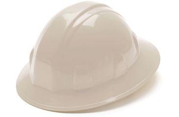 Pyramex Full Brim 4 Point Ratchet Suspension Hard Hat - White HP24110