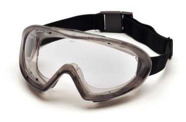 Pyramex Capstone Goggles and Face Shield - Gray frame, Clear Antifog Lens